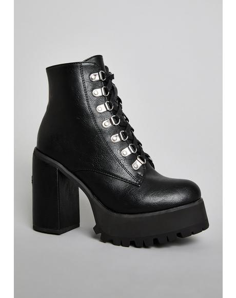 Dante's Inferno Ankle Boots