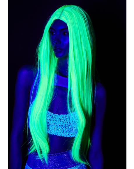 Neon Nightscape UV Wig