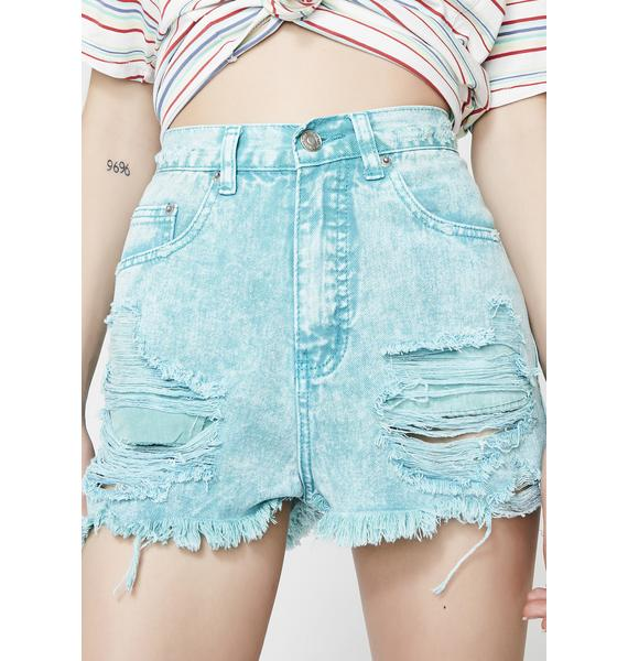 Got Me Tempted Distressed Shorts