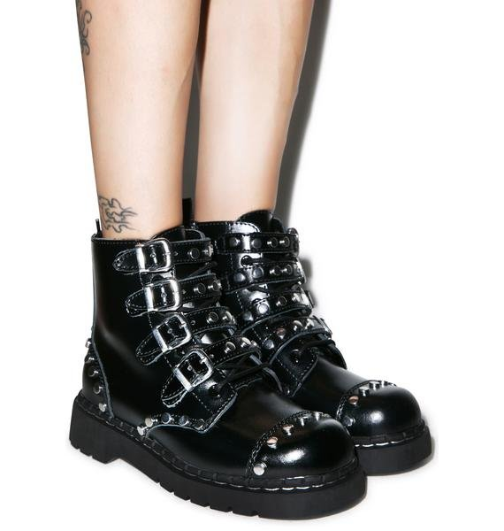 T.U.K. Studded N' Strapped Boot
