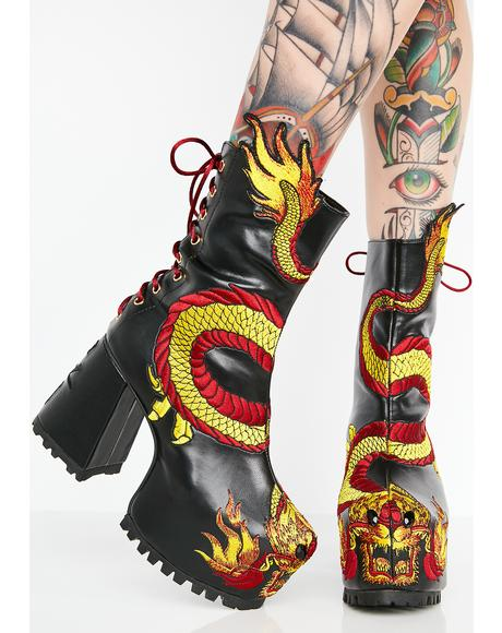 Mother Of Dragons Platform Boots