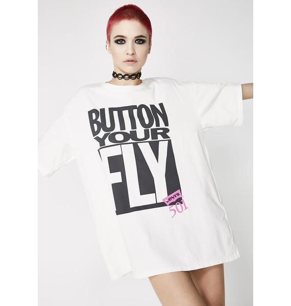 Levis Button Your Fly Tee