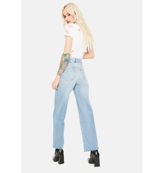 Rollas Comfort Shadow Eastcoast Flare Crop Jeans
