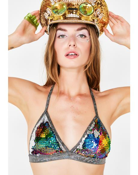 Messenger Of Love Sequin Bralette