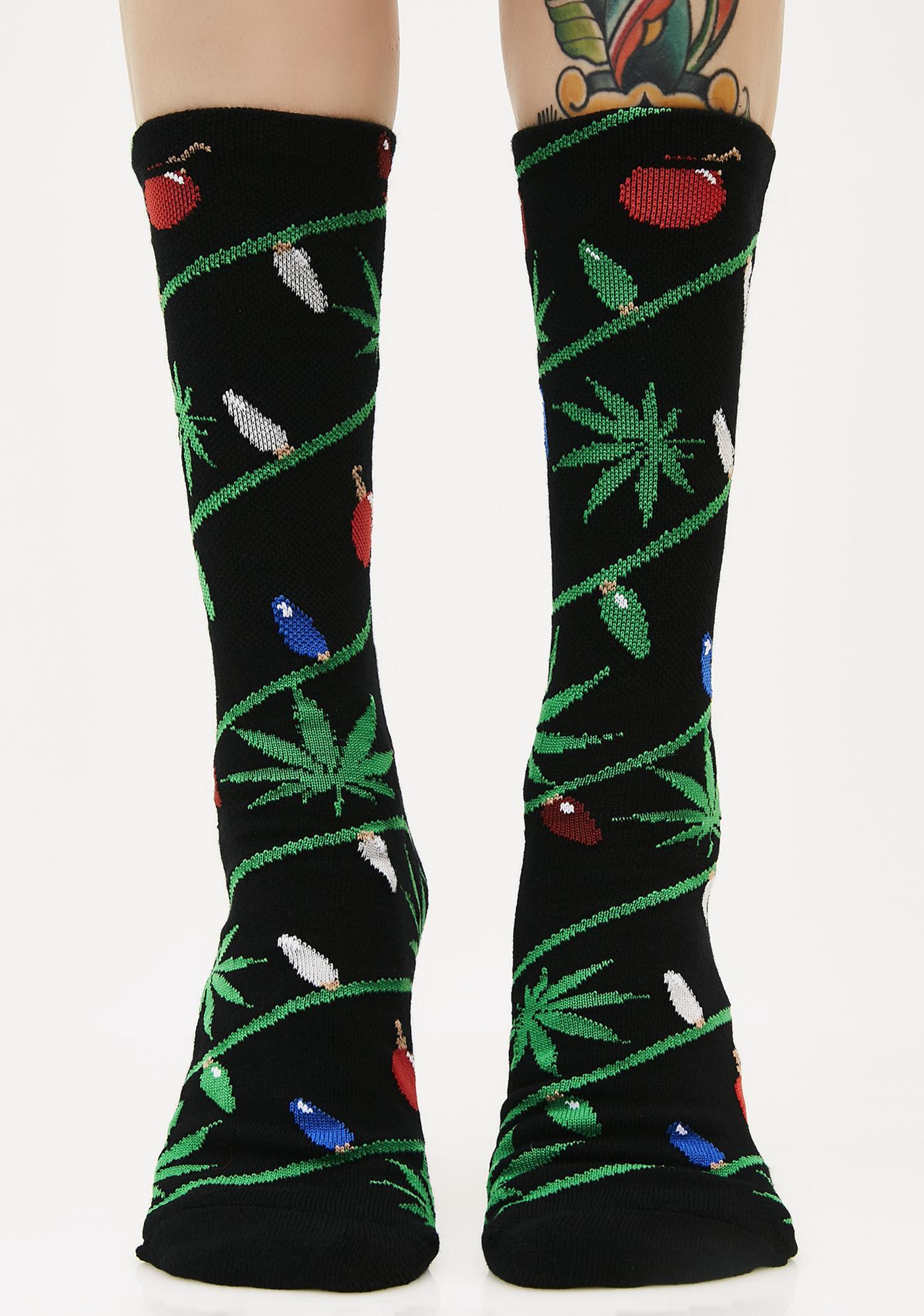 HUF Its Lit Glow in the Dark Socks