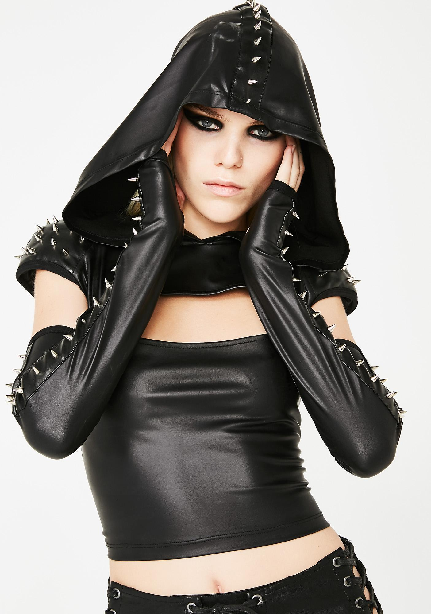 Club Exx Savage Catalyst Hooded Spike Top