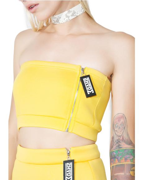 Side Zipper Tube Top