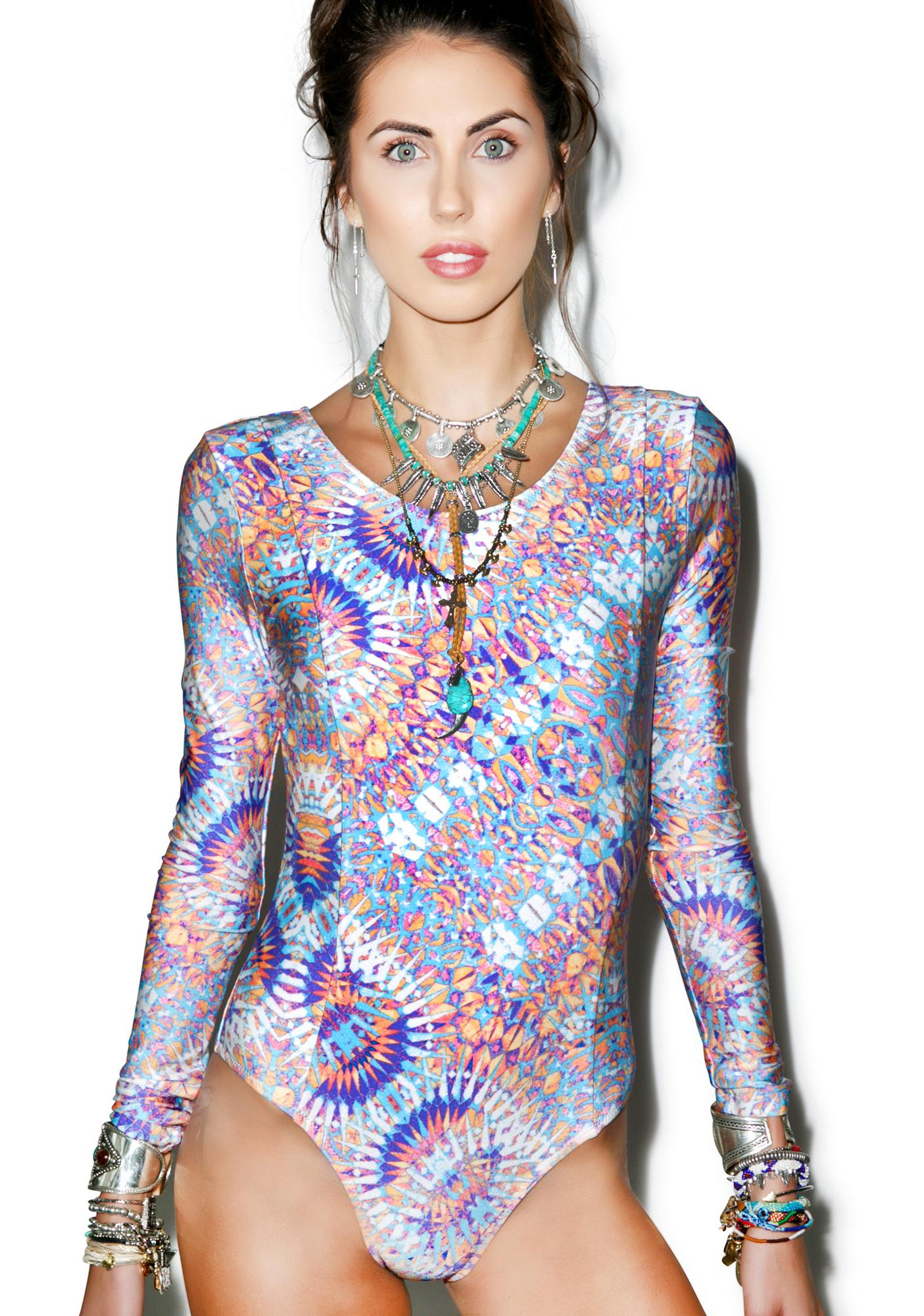Somedays Lovin Tiled Sky Long Sleeve One Piece