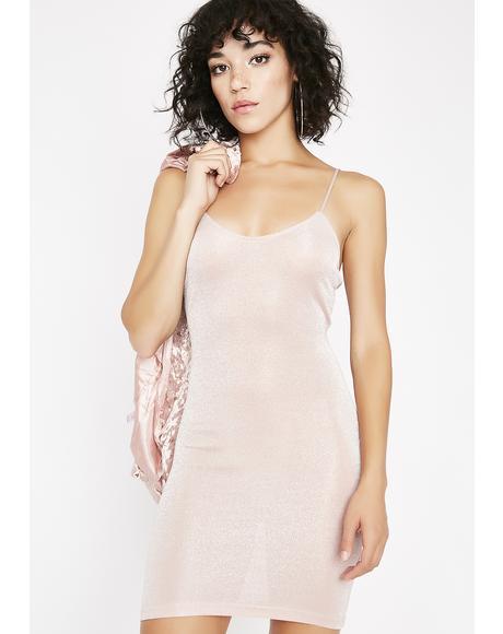 Blushing Babe Shimmer Dress