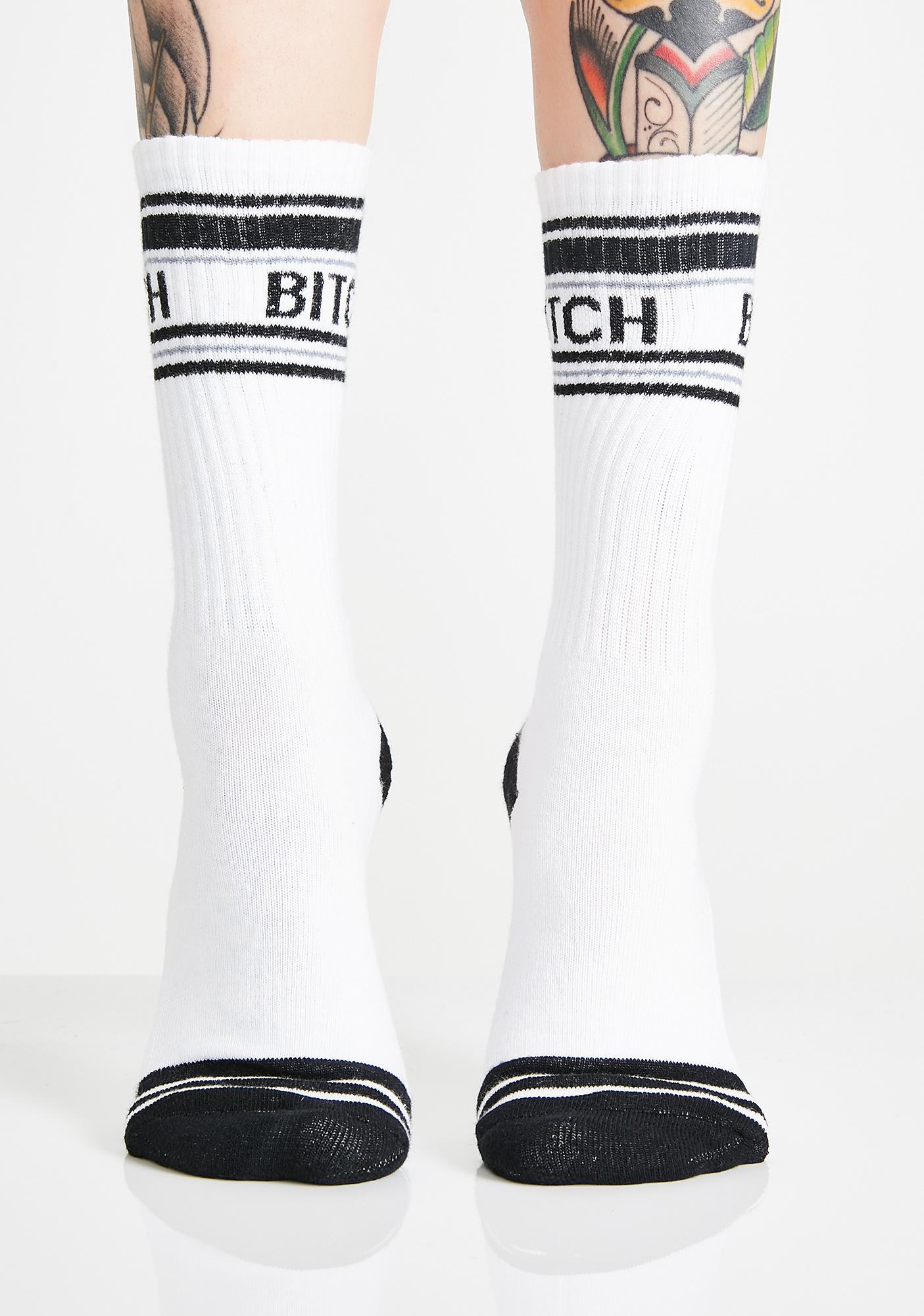 Gumball Poodle Bitch Gym Crew Socks