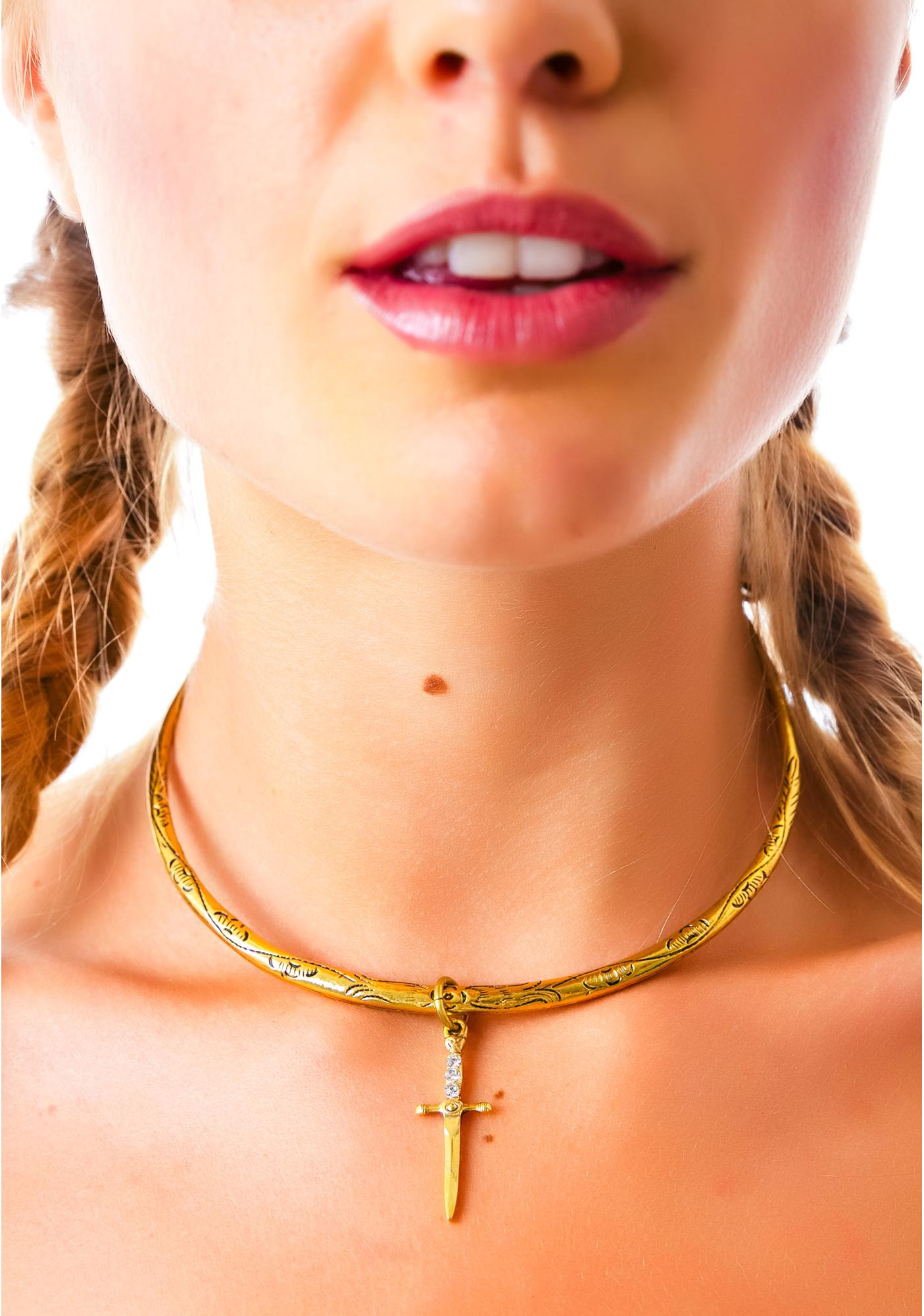 Vanessa Mooney The Palladium Gold Statement Necklace