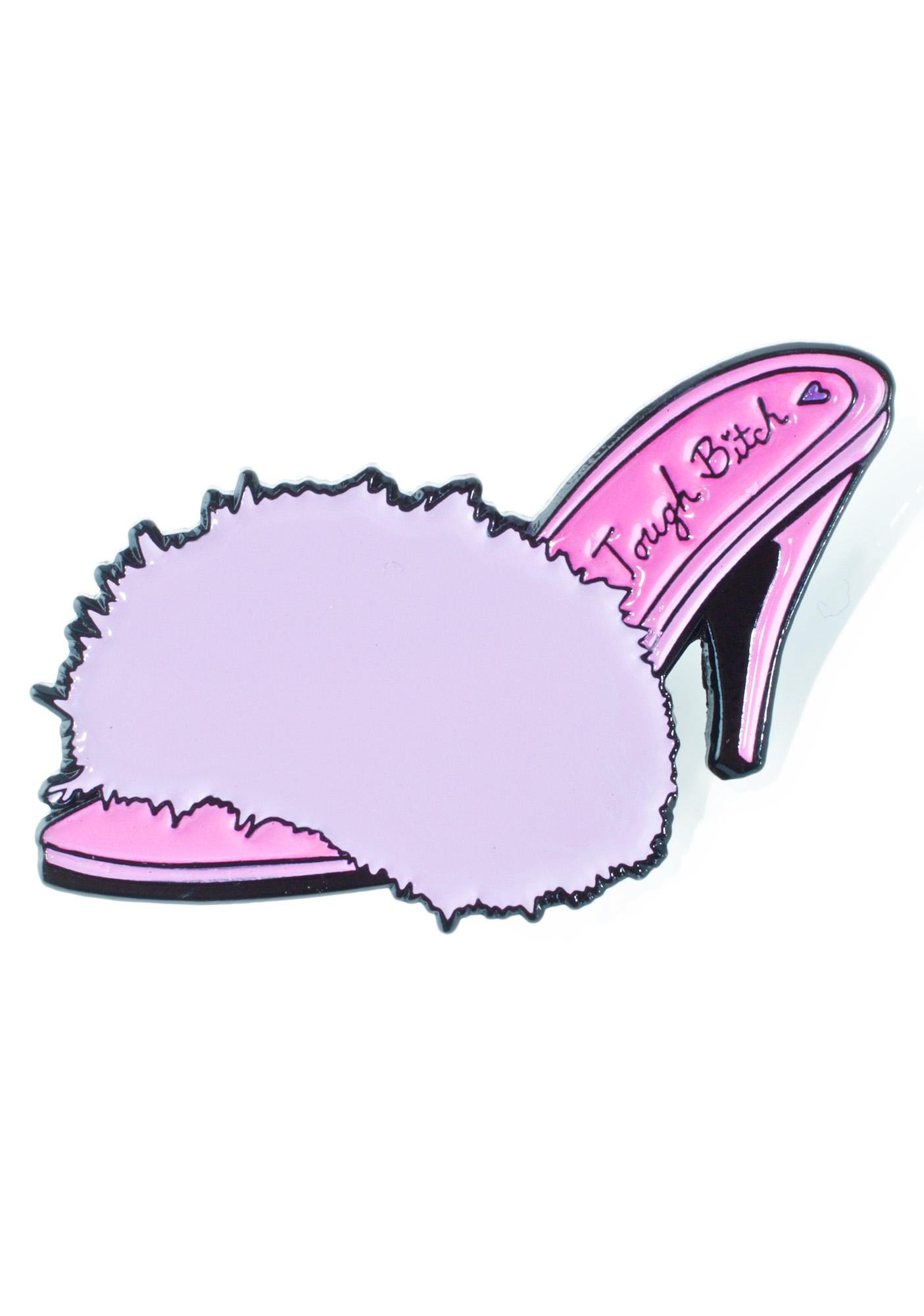Creepy Gals Fuzzy Heels Pin