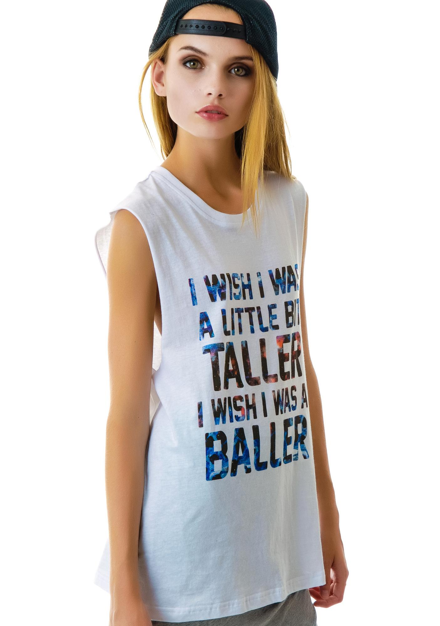 Stylestalker Little Bit Taller Sleeveless Tee