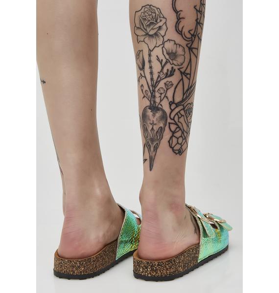 Painless Bite Hologram Sandals