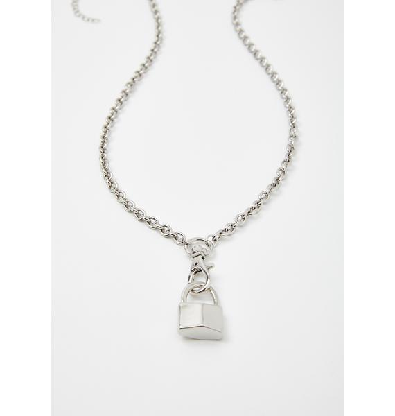 Prison Of Sin Lock Necklace