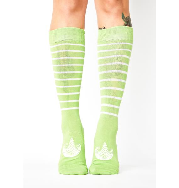 Matcha Wasted Crew Socks