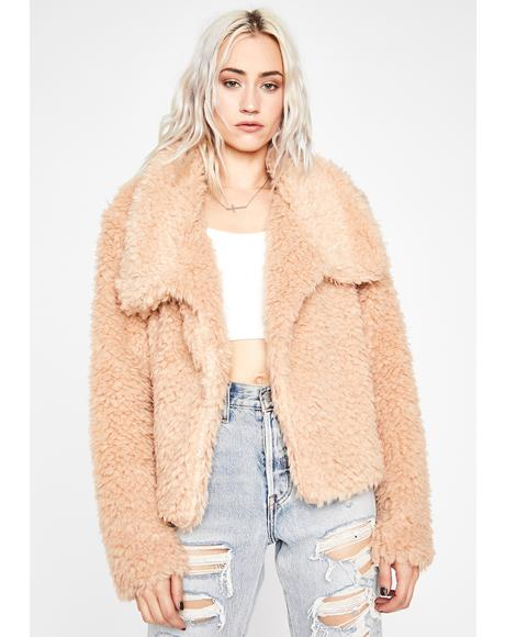 Blush Autumn Delight Fuzzy Jacket