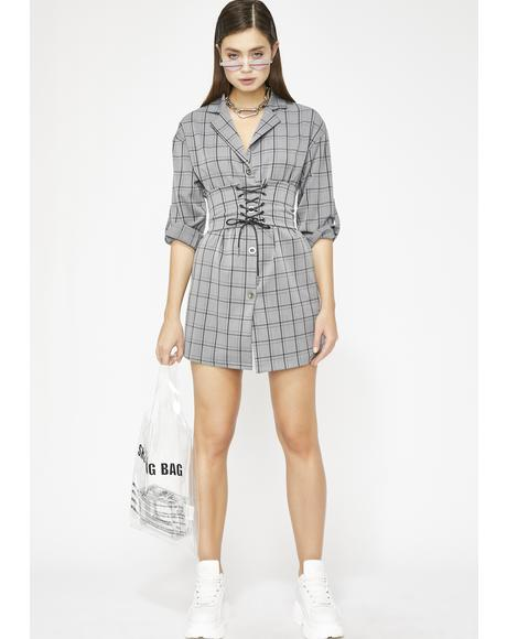 Clout Chaser Blazer Dress