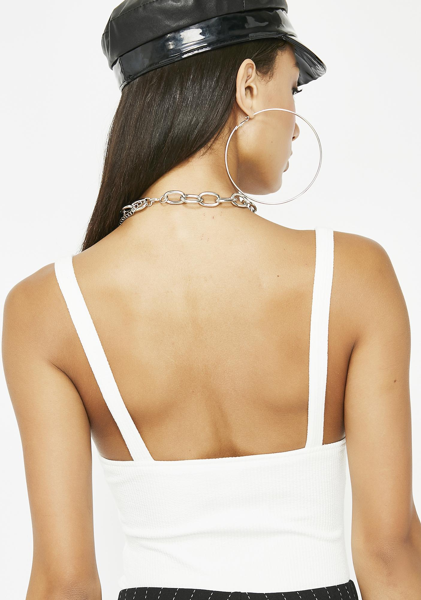 Icy Don't Wait Up Ribbed Bodysuit