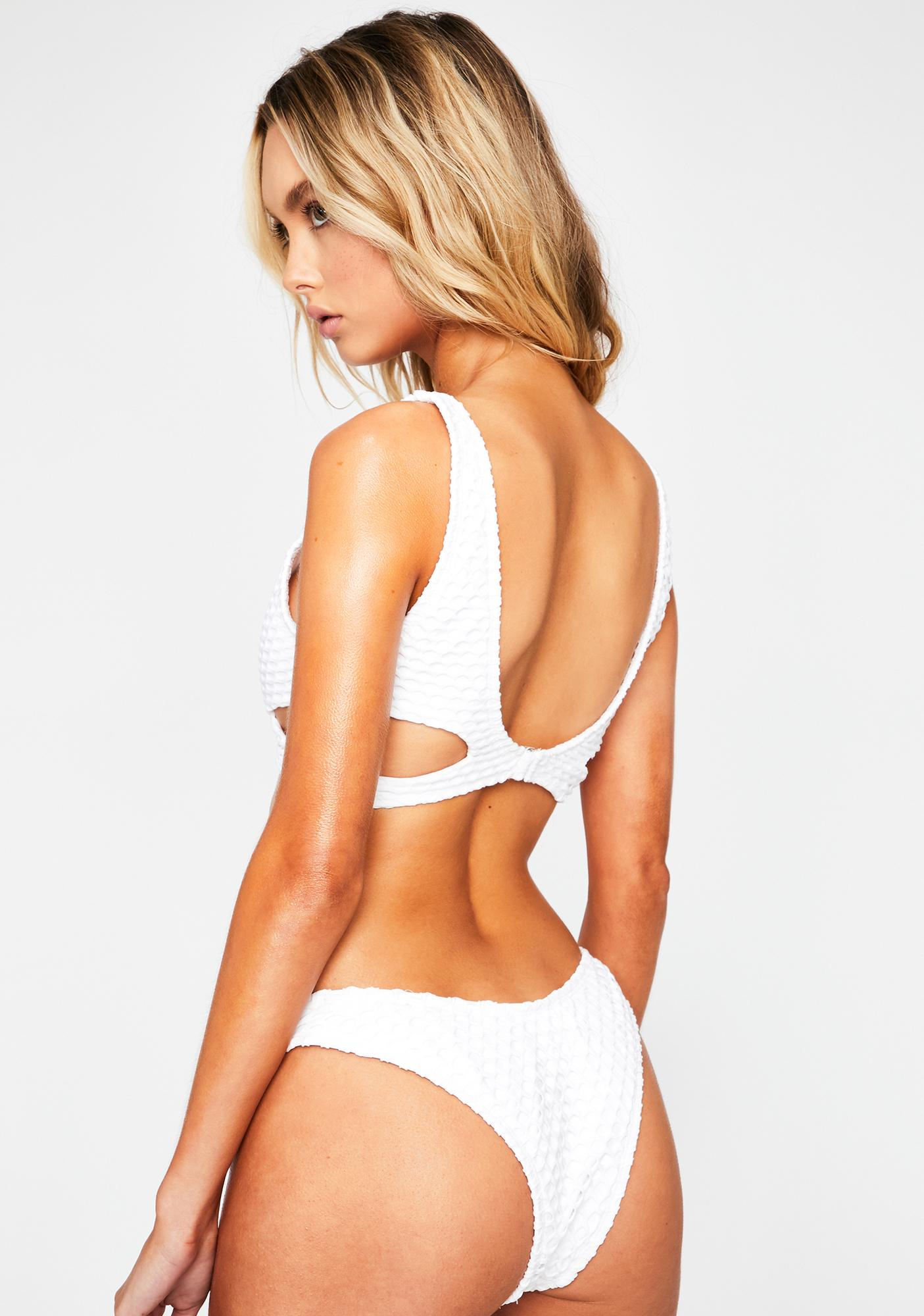 RIS-K White Nostalgia Bikini Bottoms