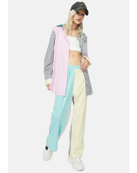 Street Elite Striped Pants Set