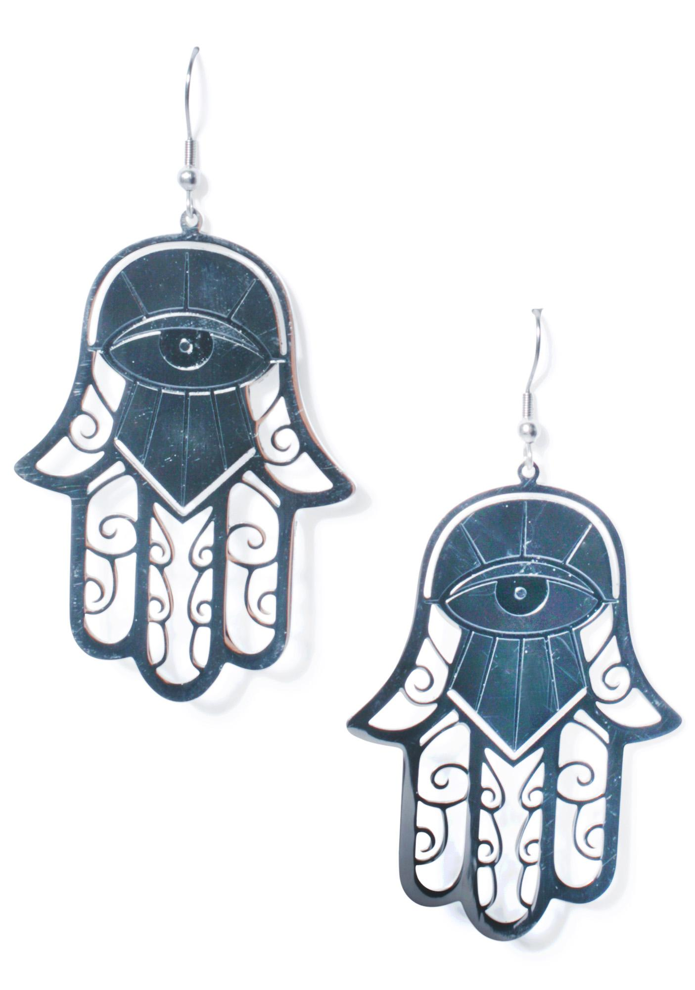 Killstar Hamsa Earrings