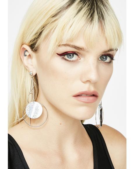 Holo Bent Earrings