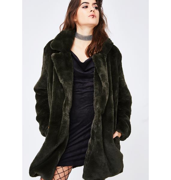 Bear In Mind Furry Jacket