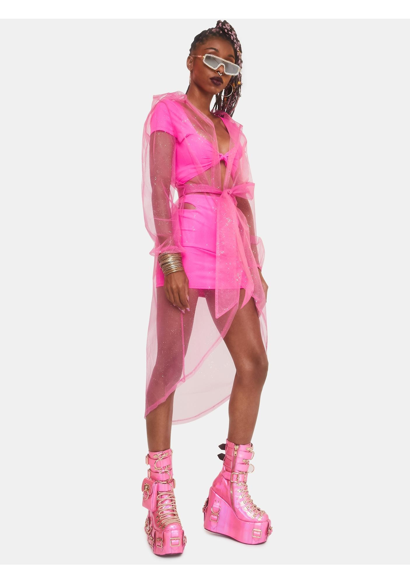Club Exx Diamond Dust Sheer Kimono