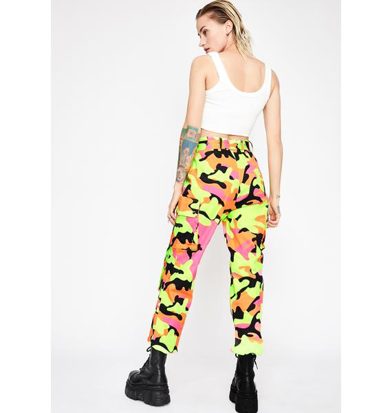 Neon Army Cargo Pants