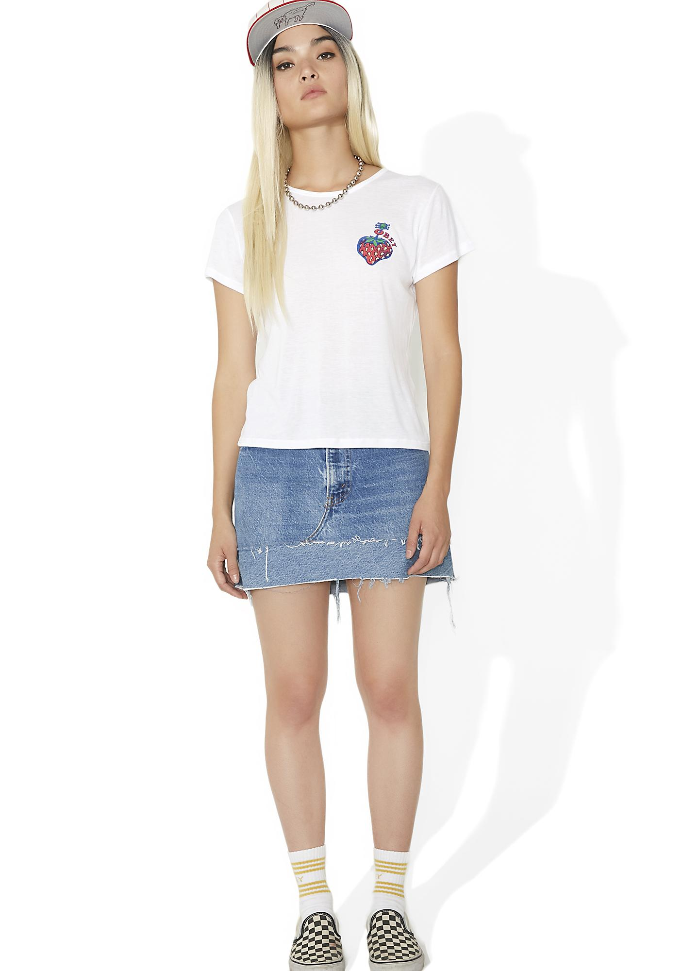 Obey Strawberry Babydoll Tee