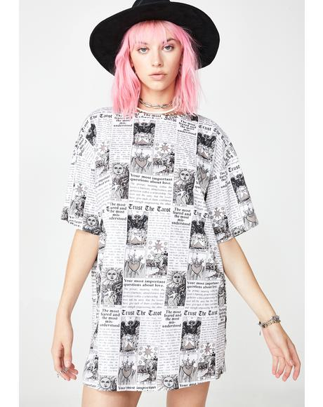 Tarot Print Sunny Kiss Dress
