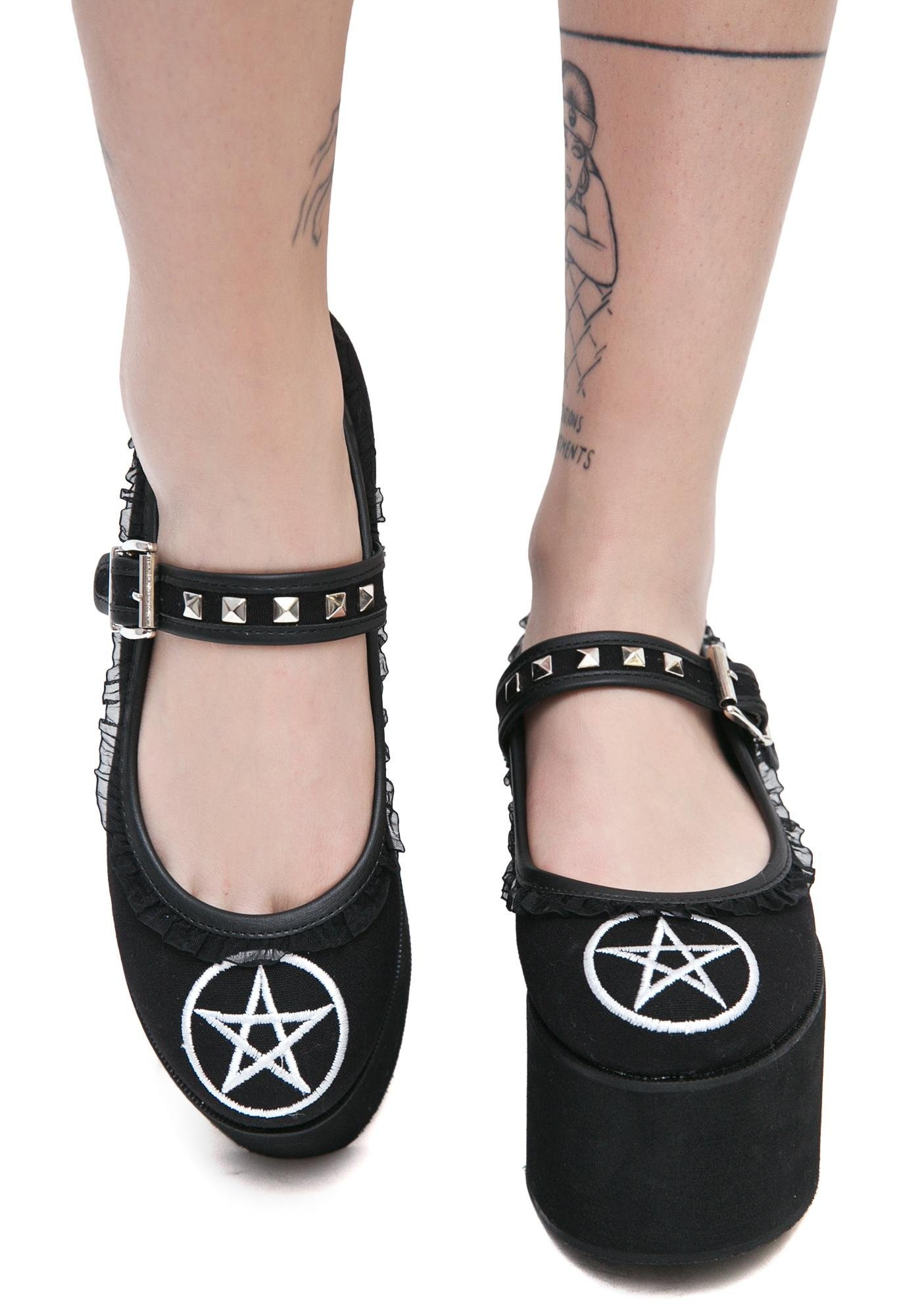 Demonia Pentagram Mary Jane Flatform