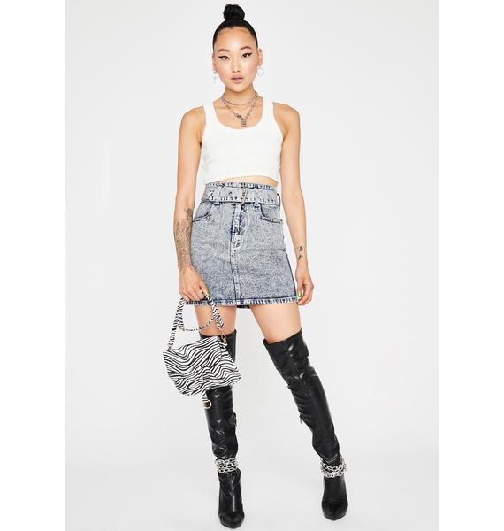 All Day Every Day Denim Skirt