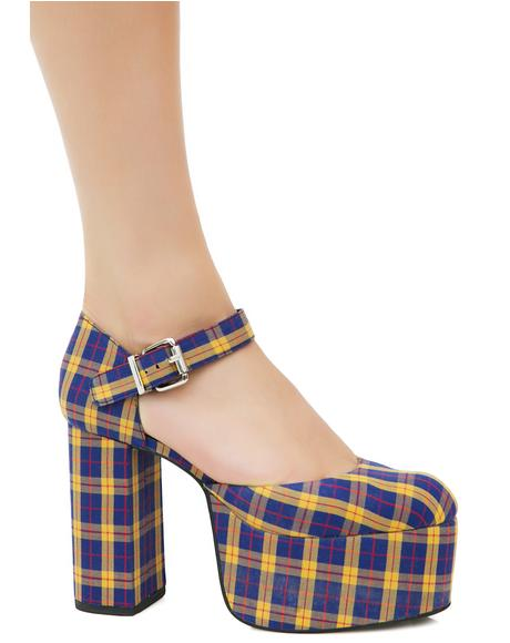 Cher Plaid Platforms
