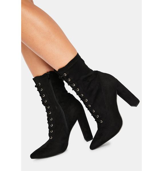 Gimme Sass Lace-Up Booties