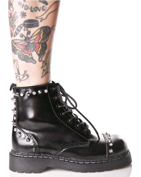 Anarchic Leather Studded Boots