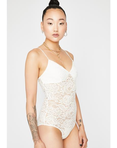Snow Paisley Daze Lace Bodysuit