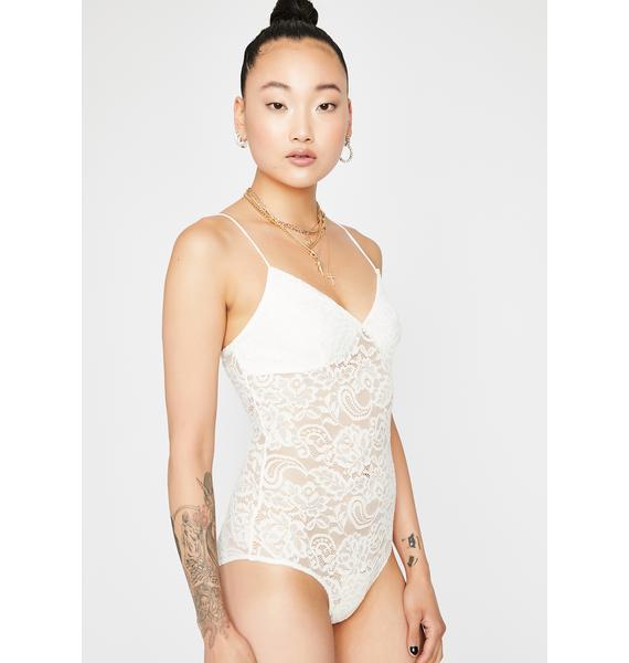 Snow Paisley Daze Lace Bodysuit