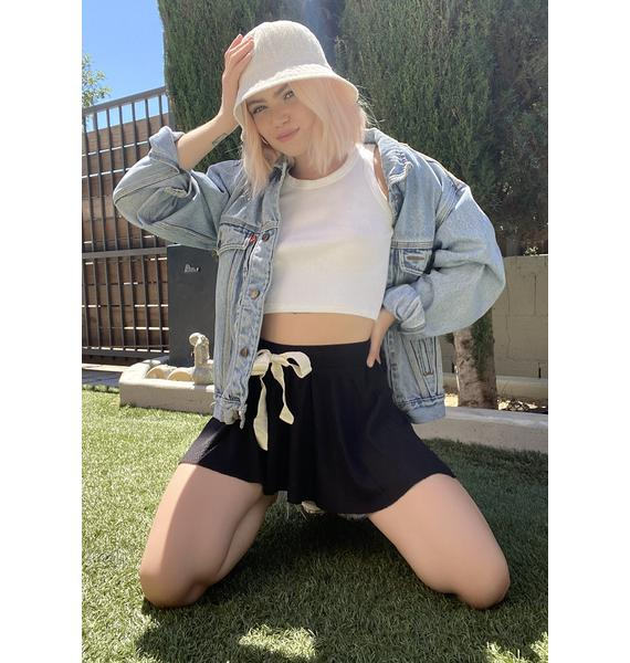Free People Black One Of The Girls Lounge Shorts