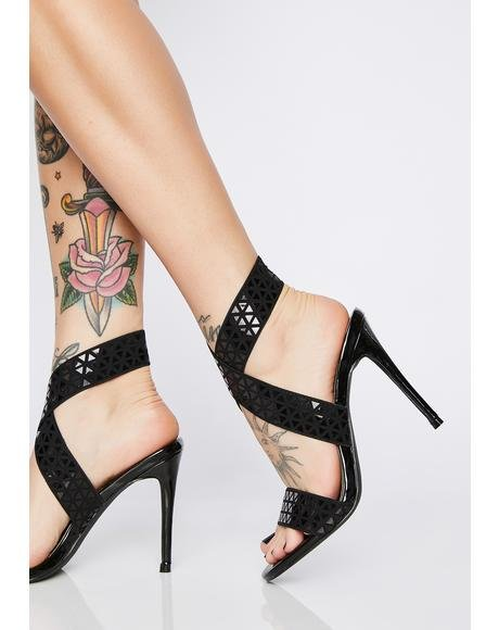 Onyx Fierce Frontier Stiletto Heels