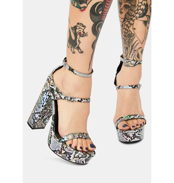 Toxic Tendencies Snakeskin Heels