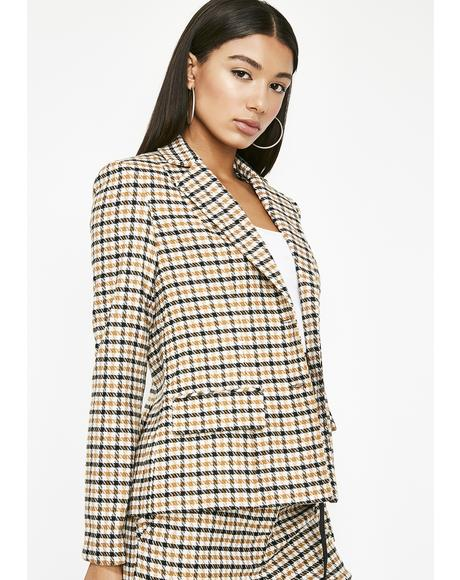 Money Gettin' Made Houndstooth Blazer