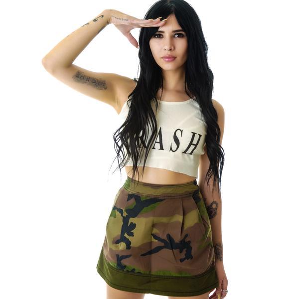 Tripp NYC Camouflage Army Skirt