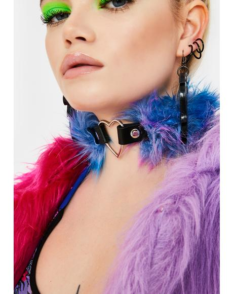 Electric Animal Fuzzy Choker