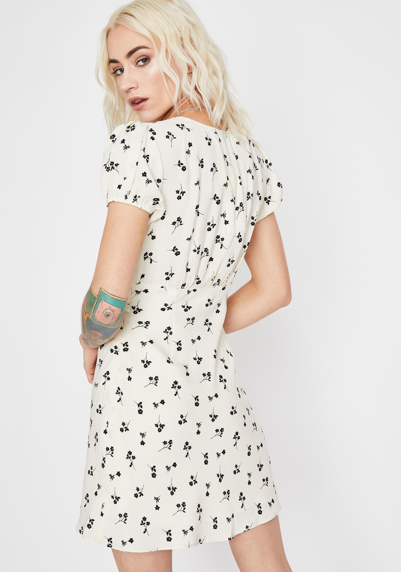 Pure Pushin' Posies Floral Dress