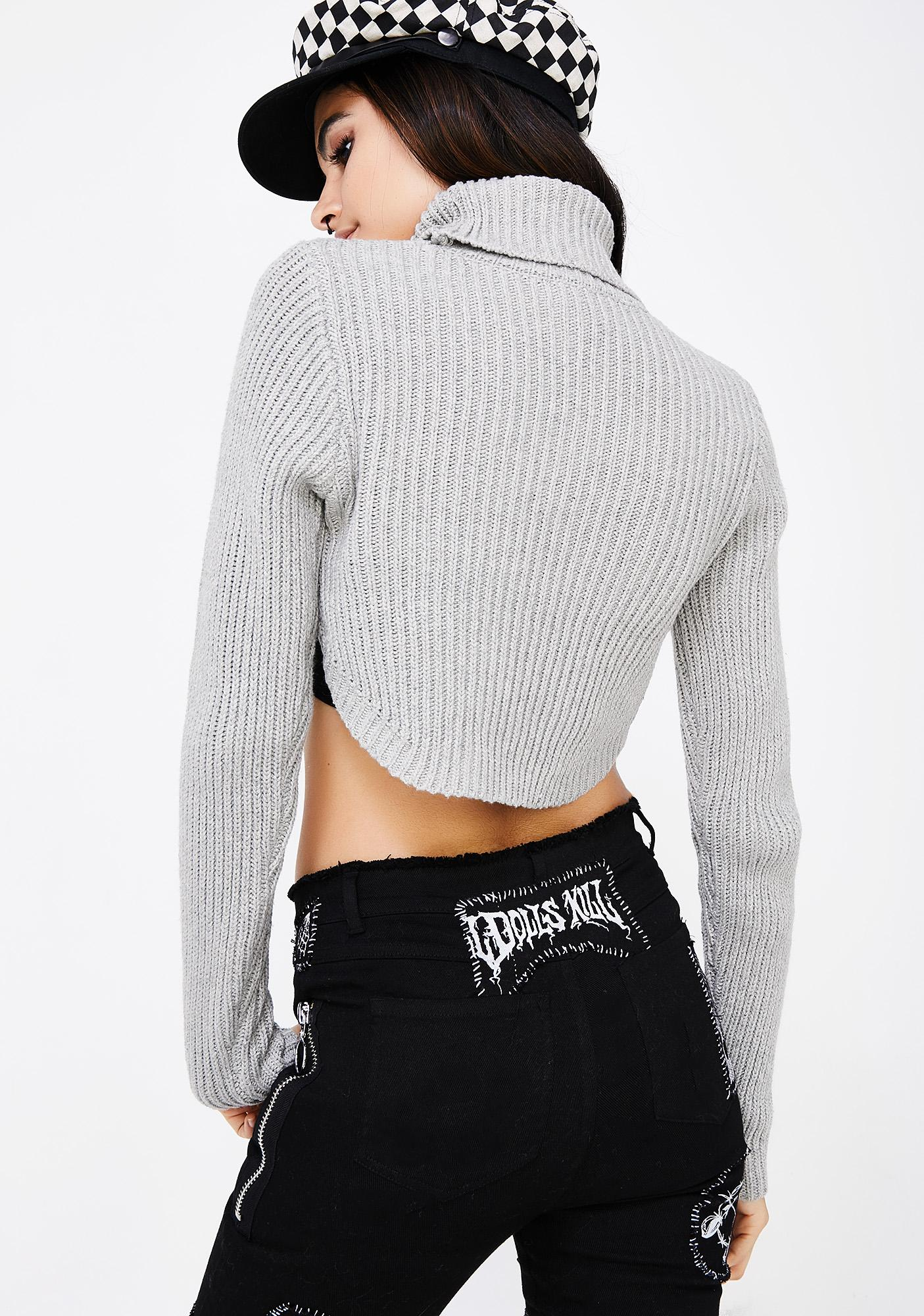 Short Story Cropped Sweater