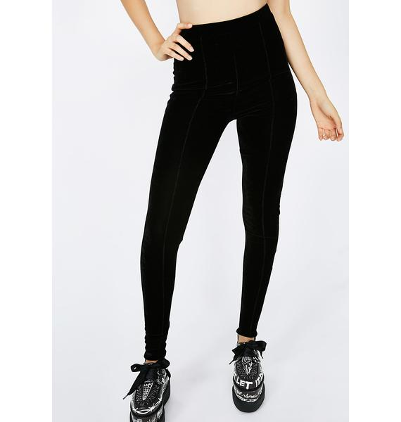 Down To Ride Velvet Leggings