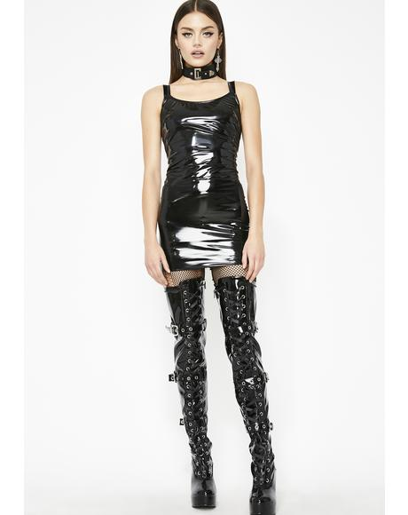 Sinister Wish U Could Vinyl Dress