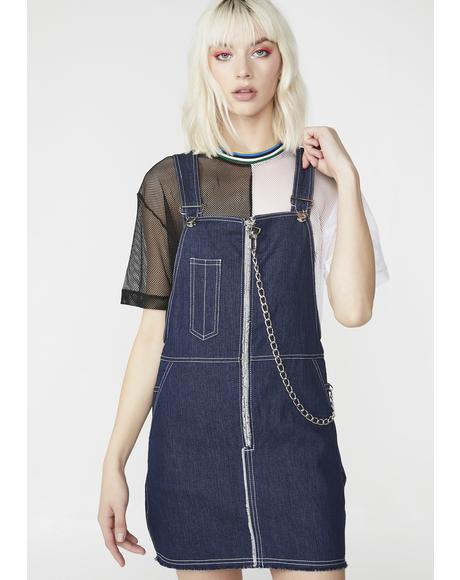 Fat Lip Dungaree Dress
